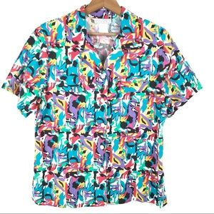 Vintage Jessica Michelle Colorful Abstract Top